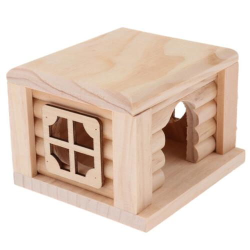 Natural Wooden for Small Hamsters Gerbils Cage Accessories