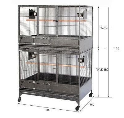"""54"""" Double Stackers Breeding African Grey Cage"""