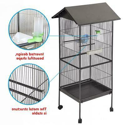 """New 61"""" Bird Cage Play Pet Two Doors BC43"""