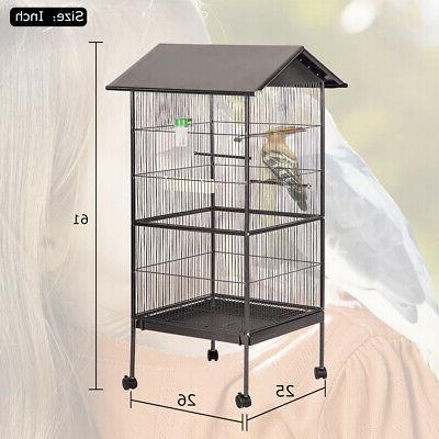 New Large Bird Cage Play Pet Supplies,Perch Two Doors BC43