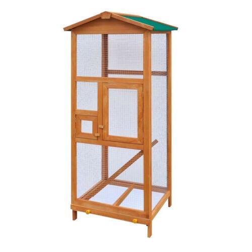 Bird Large Wood Aviary Grid Flight Cages Bird House