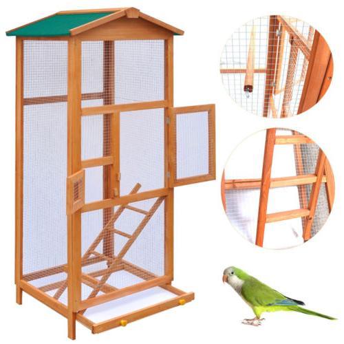 new 65 bird cage large wood aviary