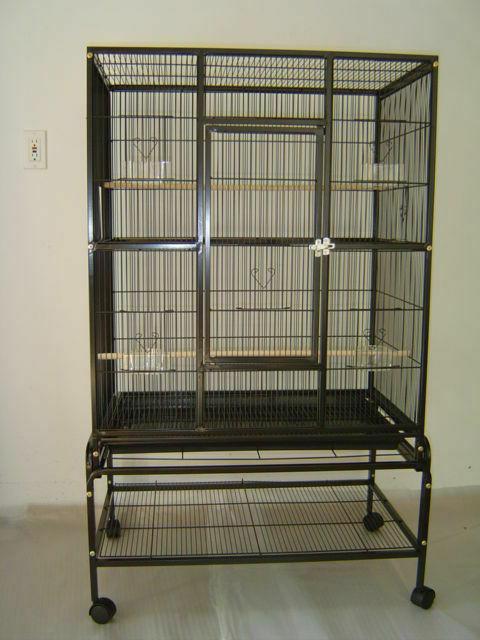 new bird parrot cage 32lx20wx53h bar spacing