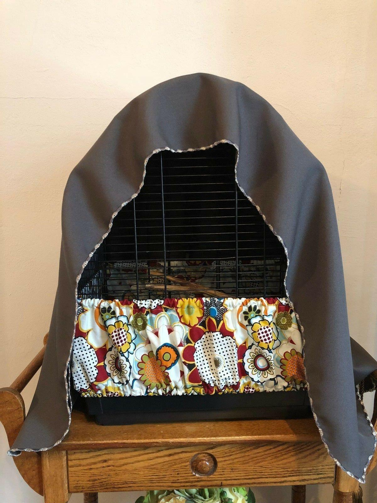 NEW Handmade Fabric Bird Seed Catcher XS-XXL