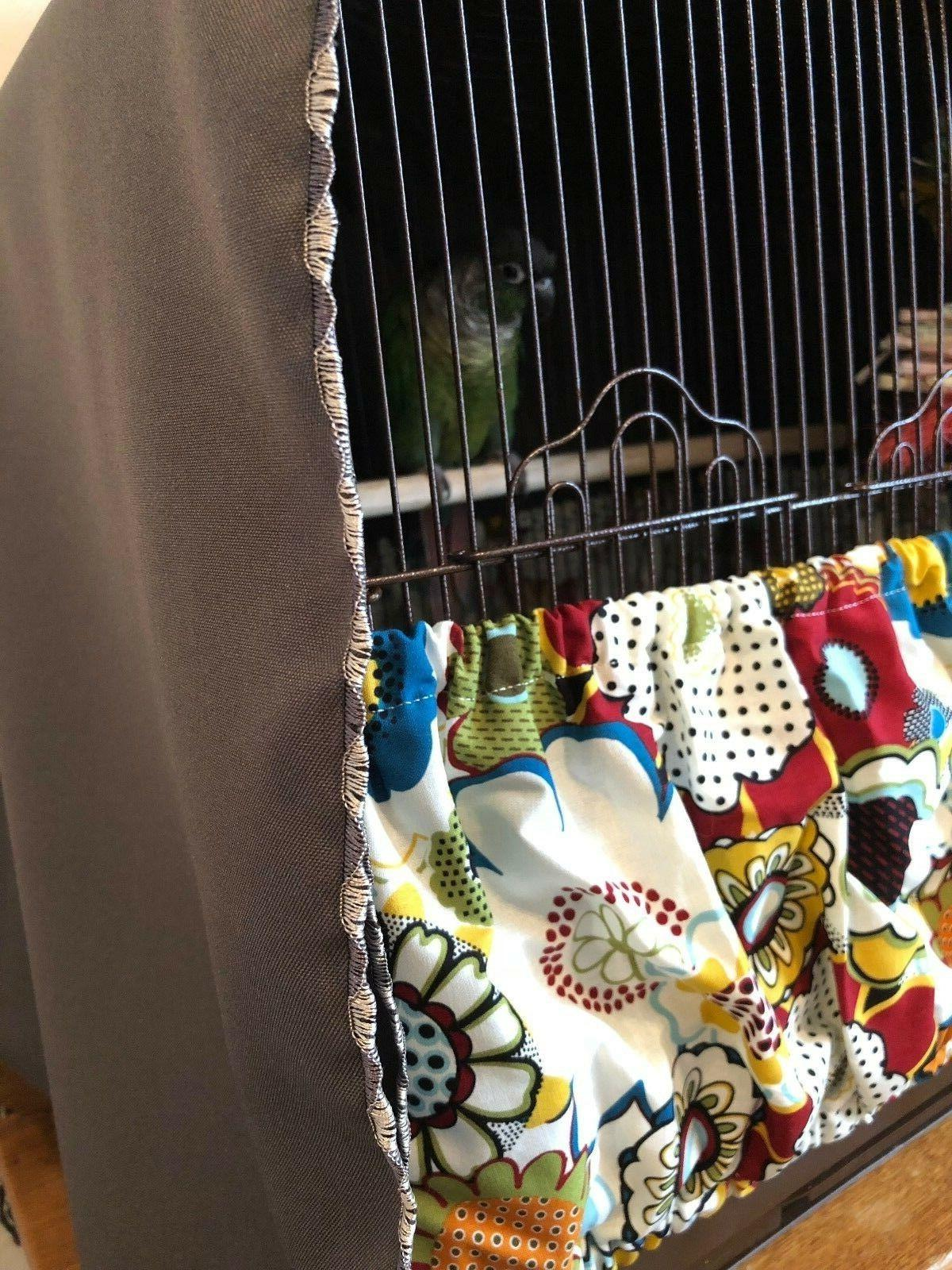 NEW Handmade Fabric Bird Cage Seed XS-XXL