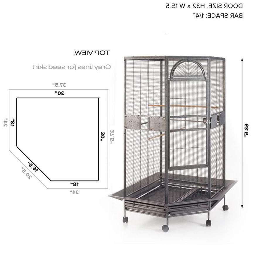 """Extra 63"""" Cage For Parakeet Budgies Parrot Seed 18"""