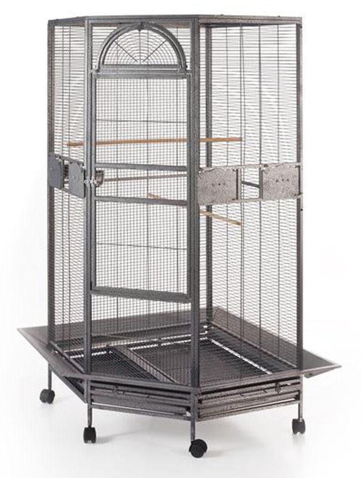 "63"" Corner Bird Flight Cage Cockatiel Parakeet Budgies Parro"