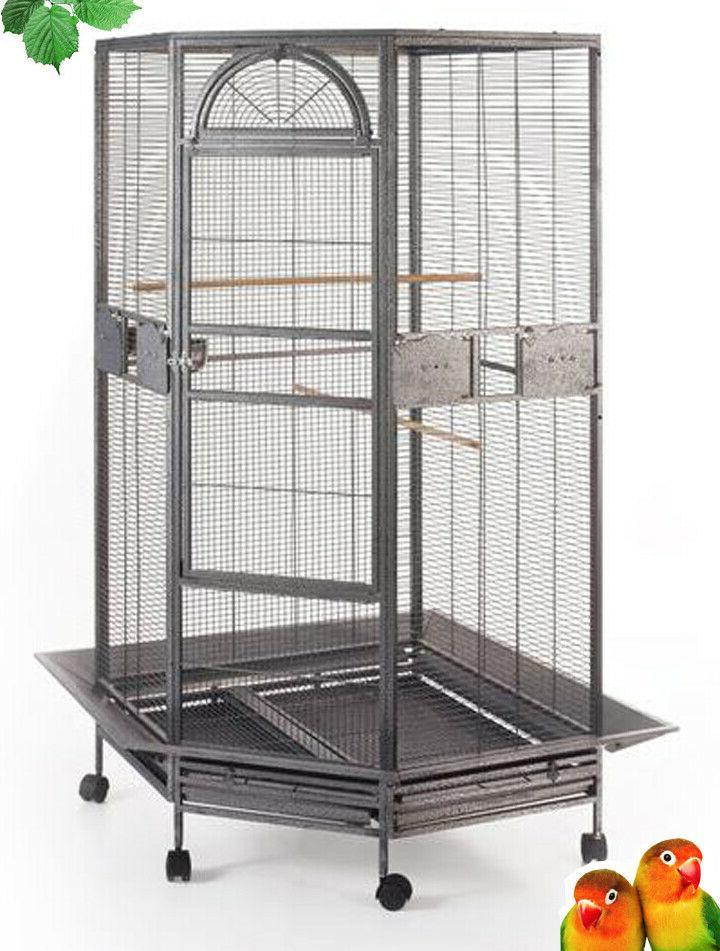 new large corner bird cage cockatiel parakeet