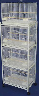 New Large Lot of 4 Bird Breeder Breeding Cages 30x18x18'H Wi