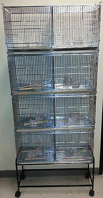 Lot-4 Galvanized Bird Finch Canary Breeder Breeding Cages Ce