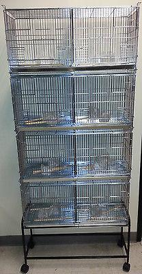 NEW Lot of 4 Bird Finch Canary Breeder Breeding Cages Center