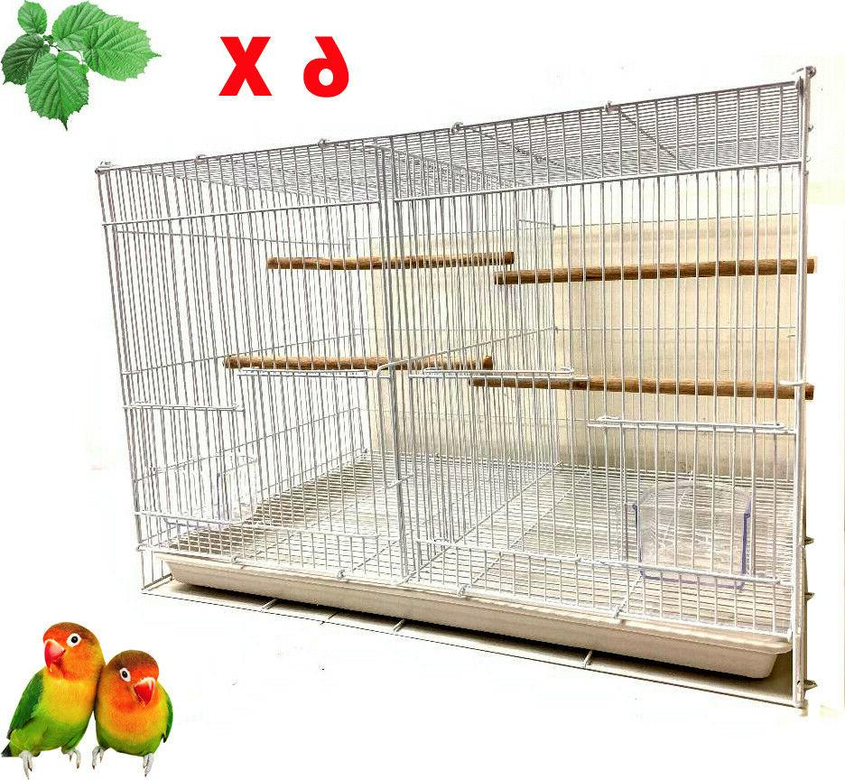 lot of 6 center divider aviaries canaries