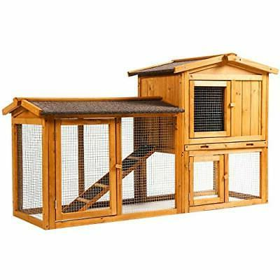 Ogrmar Chicken Coop Large Wooden Outdoor Bunny Rabbit Hutch