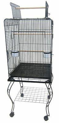 open parrot cage