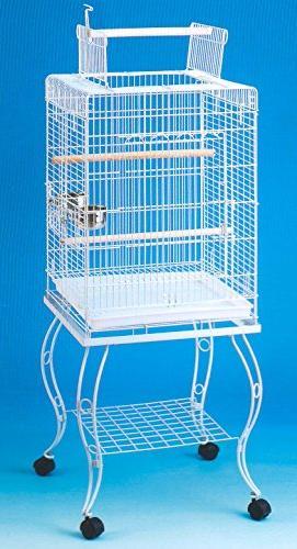 open play parrot bird cage