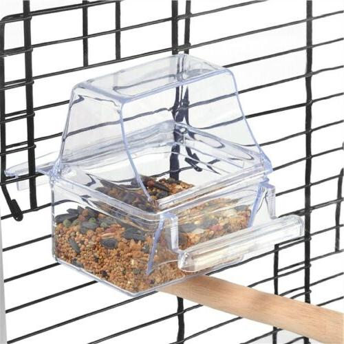 Open Top Transparent Clear Back Birds Finch w/Toys