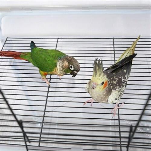 Back Birdcage for Birds Parakeet Finch w/Toys