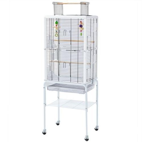 open top transparent clear back birdcage