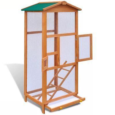 utdoor Large Bird Finch Cage Parakeet Pet Wood