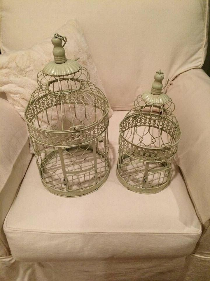 Pair Cages Cream Decor