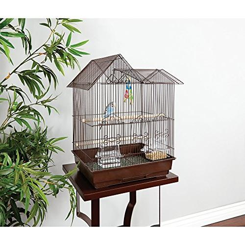 You&Me Parakeet Ranch Cage, Brown,