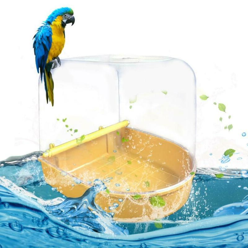 Bird Water Bath Tub For Pet Bird Cage Hanging Bowl Parrots P