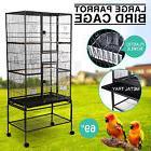 "Large 69"" Parrot Bird Cage Pet Swivel Conures Iron w/Perch S"