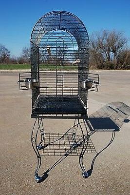 PARROT BIRD CAGE STAND - 906 Black Vein