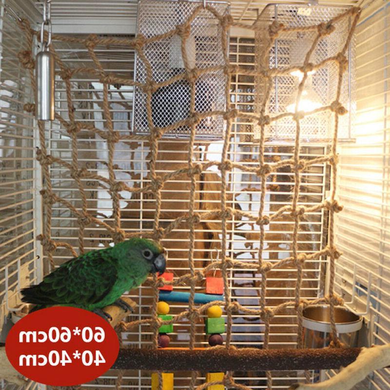 Parrot Bird Climbing Rope Net Jungle Ladder Swing Play Toys