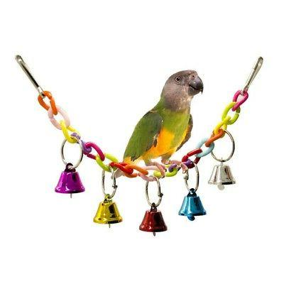 Parrot Rope with Bell Swing Bird Cage Cute Budgie Cockatiel