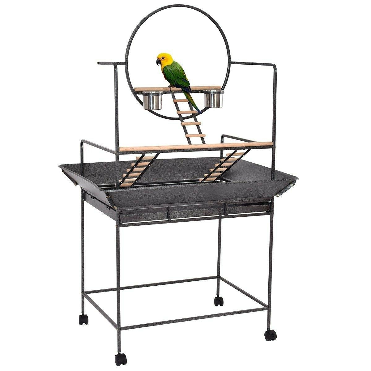Giantex Play Stand Bird Cage Perch with Ring Ladders and