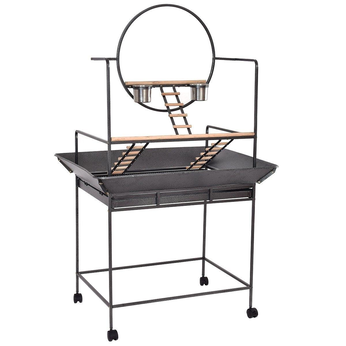 parrot play stand bird cage gym perch