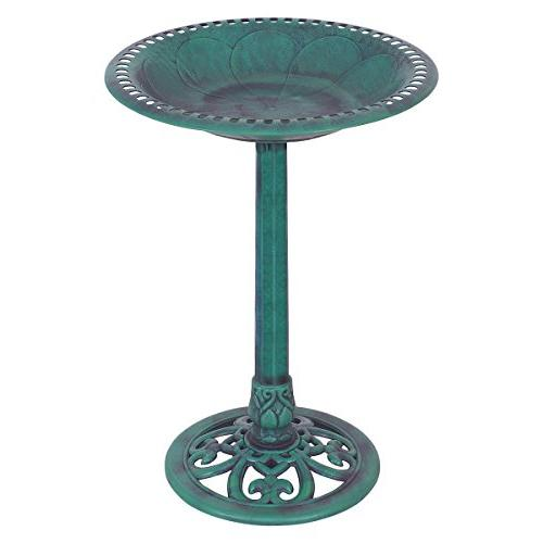 pedestal bird bath feeder freestanding