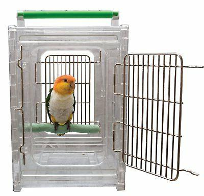 CaitecPerch & Go Polycarbonate Bird Carrier, Clear View Trav