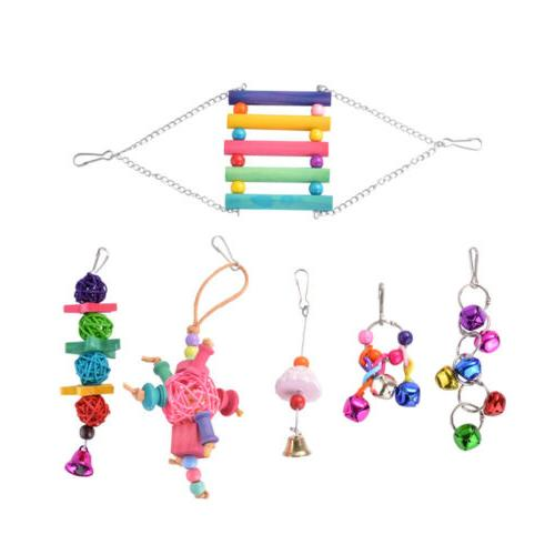 Pet Bird Cage Hanging Toys Climbing Hammock for Parakeet Bud