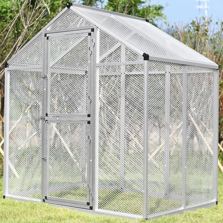 Large Pet Bird Cage Small Mesh Heavy Duty Parrot Cockatoo Wa