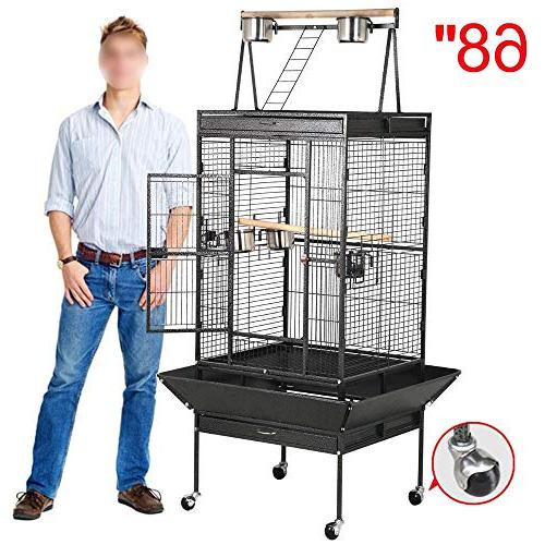 Yaheetech 68'' Select Cages African Parrots Cheeked Finches Cage with