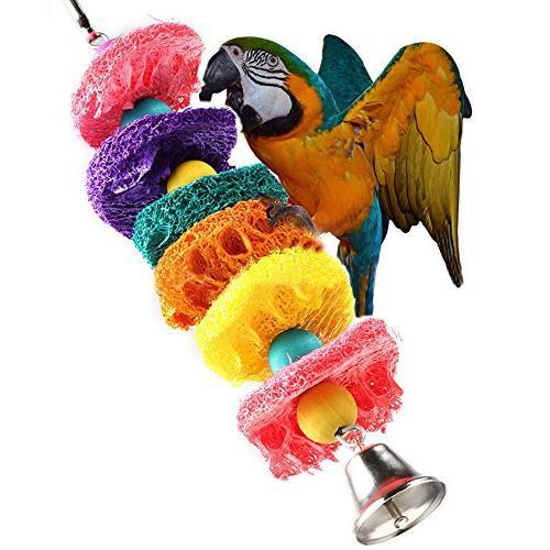 Vktech® Bird Parakeet Budgie Cage Hammock Toy Hanging Toy