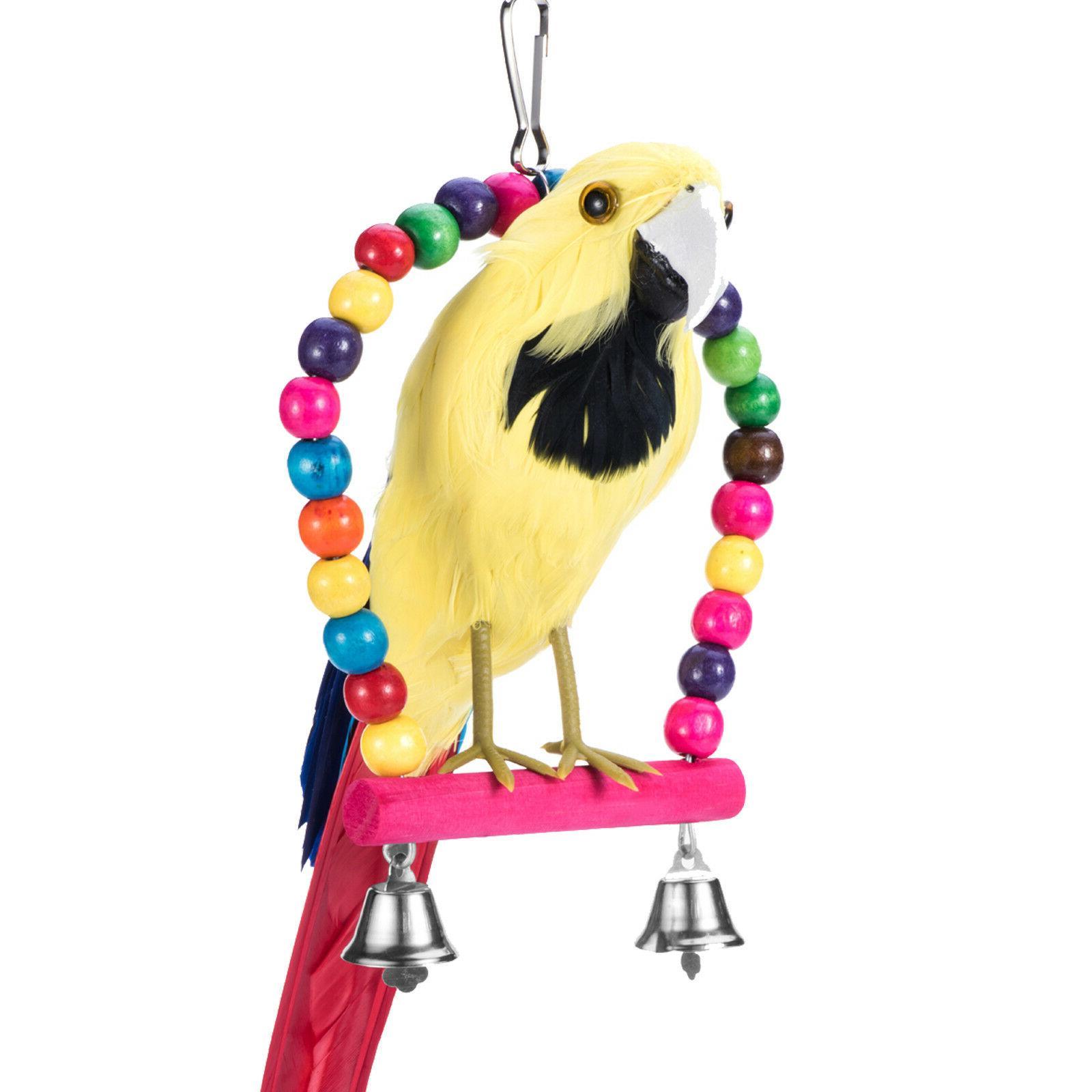 Pet Bird Swing Parrot Parakeet Budgie Cockatiel Cage Hammock