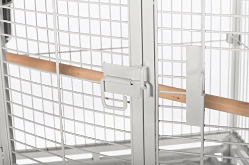 Prevue Corner Cage White, by