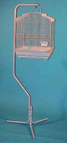 Pet Products Tubular Steel Hanging Bird Cage Stand With Meta