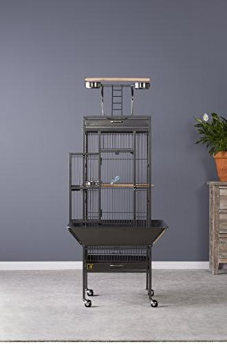 Prevue Pet Iron Select Bird Black Hammertone