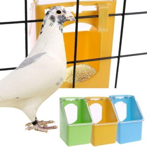Pigeons Water Feeder Parrot Hanging Drinking Pot Bird Cage W