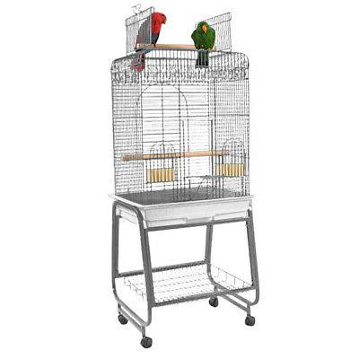 Play Top Bird Cage with Plastic Base - Color: Pure White