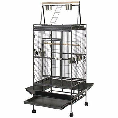 Best Choice Products 68in Durable Bird Cage w/Long Wooden Pe