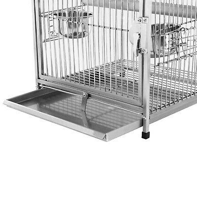 Portable Bird Cockatiel Travel Cages Stainless