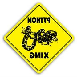 PYTHON CROSSING Sign xing gift novelty snake cage supplies f