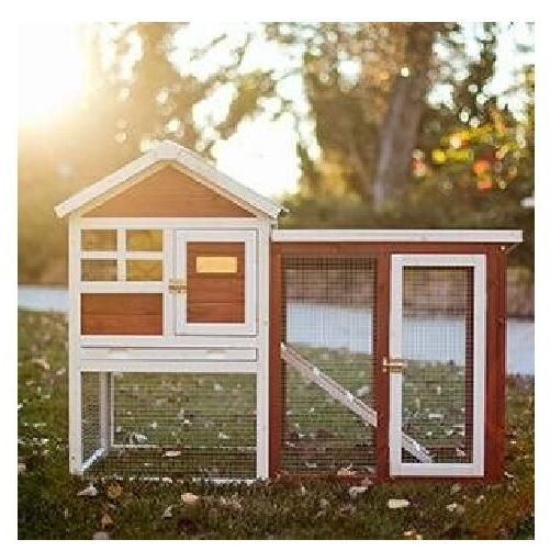 Rabbit Hutch Cage Wooden Animal House Chicken Coop Indoor Ou