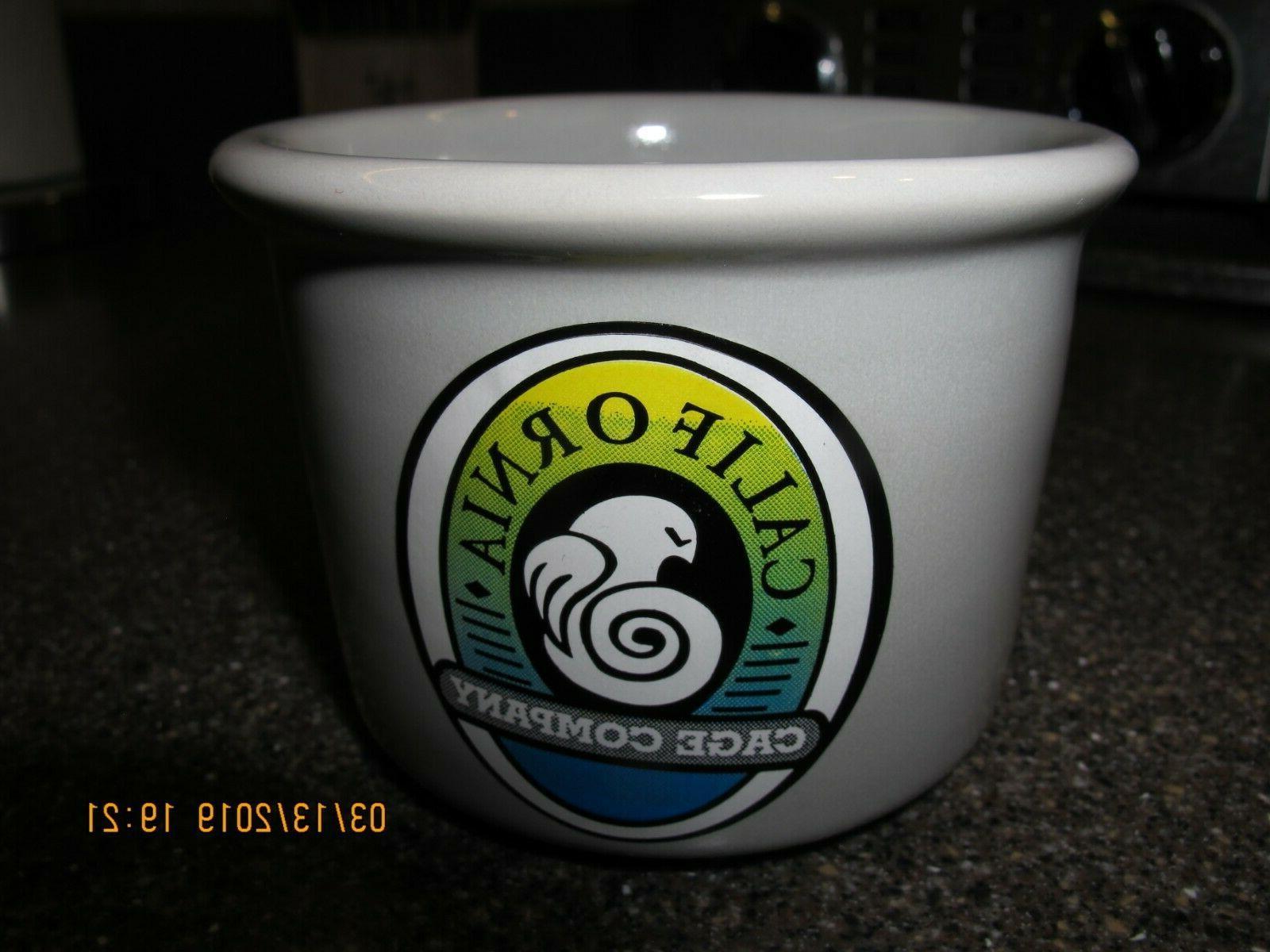 California Cage Replacement Bowl Ceramic Pet Water Food oz