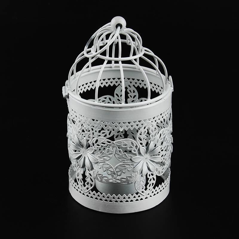 Retro Bird Cage Candle Lantern Decor